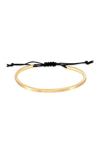 Elli Armband Armreif Geo Basic Matt Verstellbar 925 Silber