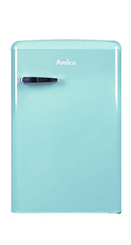 Amica VKS 15626 L Kühlschrank - Blau, Retro-Design, A++