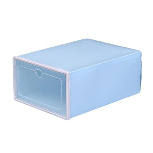 HOUSEHOLD 12-Piece Caja de Zapatos Transparente Plegable, Caja de Almacenamiento de Zapatos Apilable, Caja de Almacenamiento de Plástico a Prueba de Polvo, Contenedor de Zapatos con Tapa