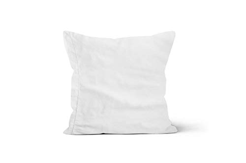 Camille 553011 Funda de Almohada de algodón percal 65x65 cm Blanco, de...