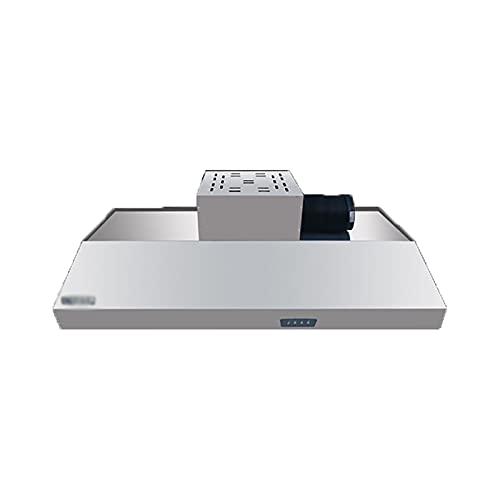 PEIHAN Dunstabzugshaube zur Wandmontage, Dunstabzugshaube für Küchenherd mit LED-Licht, Abluftventilator mit 2 Geschwindigkeiten, Dauerfilter (Edelstahl)