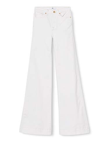 7 For All Mankind Modern Dojo Jeans, Bianco Sporco, 42 Donna