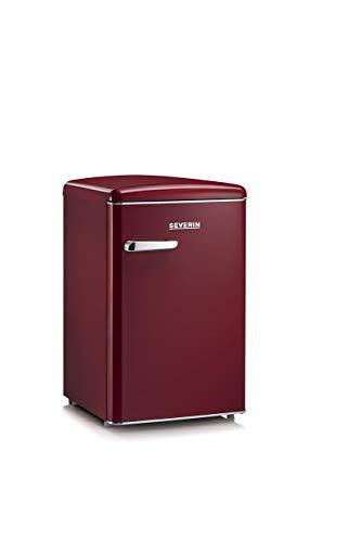 Severin RKS8831, Frigorifero - Congelatore 106 Litri, Design Retrò, Colore Amaranto
