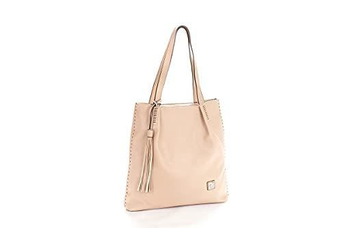 Pierre Cardin Borsa Donna Shopper Con Frangia, Logo Impunture