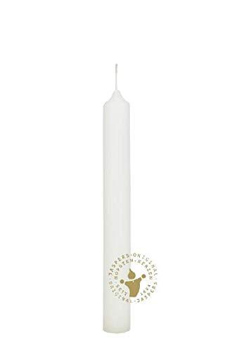 Tafelkerzen Elfenbein 180 x 20 mm, 30 Stück, Premium Kerzen von Jaspers Kerzen