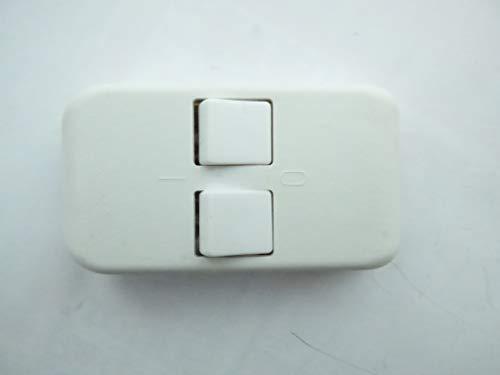Serien-Schnurschalter weiß, 1-polig abschaltend bis 2A, für 2-adriges Kabel