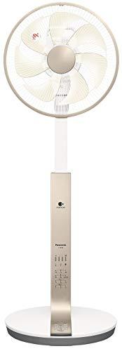 パナソニック リビング扇風機 DCモーター ナノイー&温度センサー搭載 切/入タイマー付 シルキーゴールド F-...