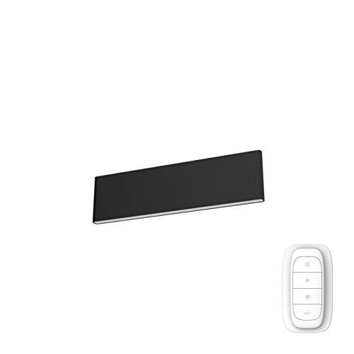 Immax Neo LISTON - Lámpara de techo inteligente, incluye regulador de intensidad, ZigBee 3.0, 2000 K - 6500 K, compatible con Echo Plus, Echo Show y Philips Hue Bridge (negro, 29 cm)
