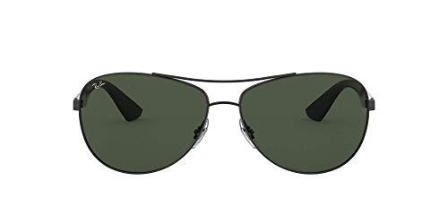 Ray-Ban Unisex 0rb3526 Sonnenbrille, Schwarz (Gestell: schwarz Glas: grau grün 006/71), Large (Herstellergröße: 63)