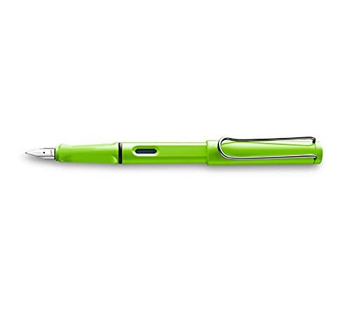 LAMY safari Füllhalter 013 – Moderner Füller in der Farbe Grün mit ergonomischem Griff und zeitlosem Design – Federstärke B