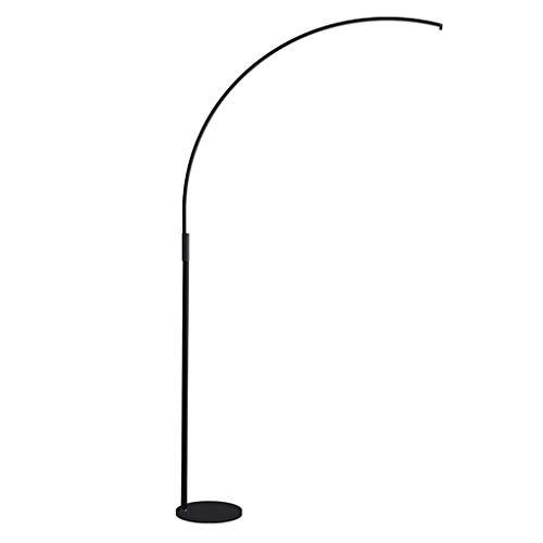 ZGP-LED Luces de piso El aprendizaje de lectura LED de la lámpara de piso de Estudiantes de la lámpara curvada Salón Dormitorio Oficina Estudio lámpara de escritorio Negro inteligente de atenuación de