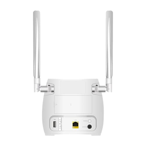 STRONG 4G LTE WLAN Router 300M(LTE bis 150 Mbit/S, 2.4 GHz WiFi @ 300 Mbit/S, 802.11b/g/N, LAN Port, SIM Adapter) Weiß, Small, 4GROUTER300M
