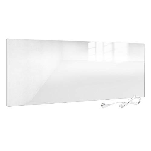 Viesta H700-GW Infrarotheizung Glas 700 W, weiß - Heizpaneel mit höchstem Wirkungsgrad Dank Carbon Crystal Technologie - Flache Glasheizung aus Sicherheitsglas - Elektroheizung mit Überhitzungsschutz
