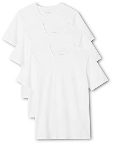BOSS Herren RN 3P CO T-shirt, 3er Pack, Weiß (White 100), X-Large