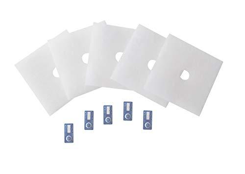 Maico – Original ZF 60/100 Ersatz-Luftfilter Art.-Nr. 0093.0331 (Vorgänger 0093.0680) von Maico Ventilatoren, Verpackungseinheit 5 Stück inkl. 5 Timestrips, für ER, ER-AP, ER-APB und Centro