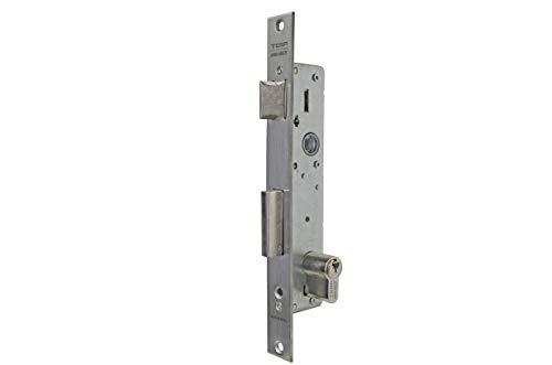 Tesa Assa Abloy 3012393 Cerradura Tesa 2210/38/ssi Sin cerradero Sin Escudo, Gris (Inoxidable), Entrada 30 mm