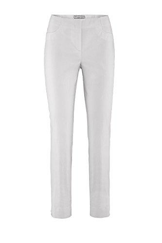Stehmann-Stretch LOLI 742-mit EXTRA-Fashion Armreif-viele Farben-Wie Ina 740 nur unten Enger-Schmale Pullon Hose mit Schlitz, Hosengröße:42, Farbe:weiß