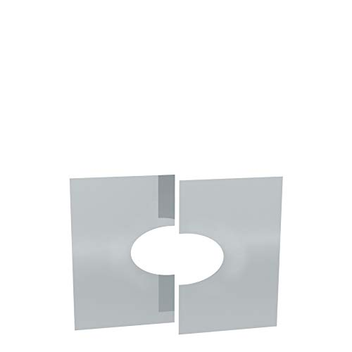 Edelstahlschornstein Schornstein Einzelteil Zubehör Deckenblende 31-45° für Ø150mm Innendurchmesser 25mm Isolierung Verkleidung unterer Ausschnitt Dachdurchführung geschlossen