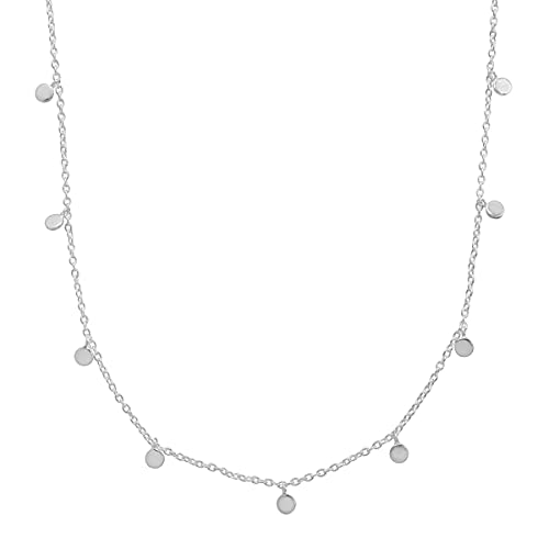 Silpada 'Silver Lace' Adjustable Station Necklace in Sterling Silver, 19'