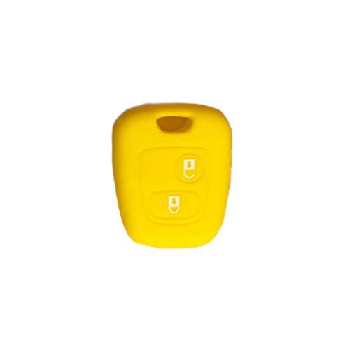 1neiSmartech Cover Guscio Colorato Materiale Silicone Morbido Per Scocca Chiave 2 Tasti Auto Toyota Aygo In 10 Fantastici Colori (Giallo)