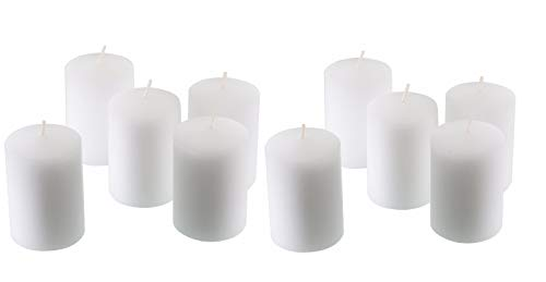 Dlight Online 15 Hour Unscented White Emergency and Events Bulk Votive Candles for Wedding Votives, Luminary Candles, Restaurants, Churches, Bars, Parties, Spa and Decorations (White, Set of 36)
