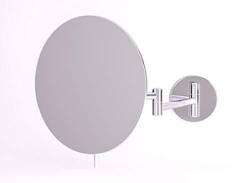 Kosmetikspiegel Talos Chios Ø 20 cm - Rasierspiegel mit 3-Fach Vergrößerung - Chrom-Optik - veränderbare Spiegelposition