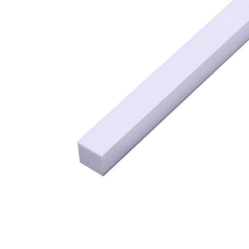JKGHK Barra De Plástico ABS Varillas Varilla Cuadrada, Adecuada para Realizar Maquetas De Escenas, Manualidades Y Decoraciones,8mm x 8mm x 250mm(1pcs)