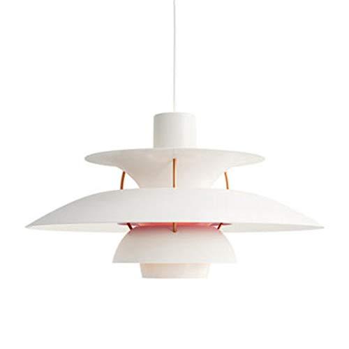 SXFuture Lámpara Colgante Nórdica E27 - Lámpara Suspendida LED De Paraguas PH5 - Luz Colgante Colorida para Accesorios De Iluminación Interior De Comedor (50 Cm),A
