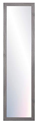 Chely Intermarket, Espejos de Pared Cuerpo Entero 35x140 cm (Marco Exterior 42x147 cm)(Gris-2004) MOD-128 | Forma Rectangular | Dormitorio, Acabado Elegante, Ideal para decoración.(128-35x140-