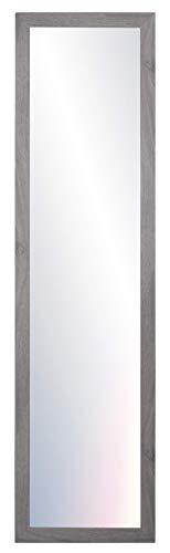 Chely Intermarket, Espejos de Pared Cuerpo Entero 35x140 cm (Marco Exterior 42x147 cm)(Gris-2004) MOD-128 | Forma Rectangular | Dormitorio, Acabado Elegante, Ideal para decoración.(128-35x140-6,15)