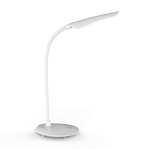 LVYIMAO - Lámpara de escritorio creativa, interruptor táctil, lámpara de mesa, protección para los ojos, plegable, giratoria, 360 ° LED, lámpara de mesa