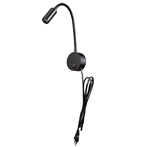 DSYADT Aplique de Pared Lámpara de Pared de 3 W Accesorios de iluminación Interior Lámparas de Pared LED de Cuello de Cisne con Enchufe e Interruptor Linterna de Pared Iluminación de Acento