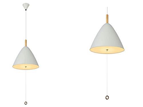 Hängelampe Esszimmer mit Zugschalter Hängeleuchte Retro Esszimmerlampe Weiß (Skandinavisches Design, Pendellampe, Küchenlampe, 33 cm, Höhe 120 cm)