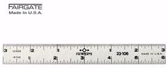 Fairgate 12 Standard Aluminum English Ruler 20-112