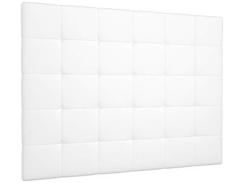 LA WEB DEL COLCHON - Cabecero tapizado Corfú para Cama de 150 (160 x 120 cms) Blanco | Cama Juvenil...