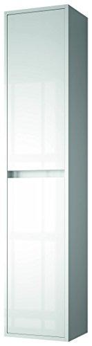 The Living Design Nejar Colonne de Salle de Bain en Bois 140 x 30 x 24 cm 140 x 30 x 24 cm Blanc