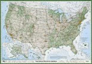 The Essential Geography of the United States of America, Flat/Rolled poster paper