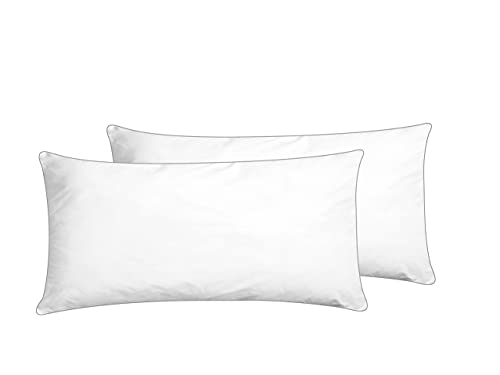 Beliani Conjunto de 2 Almohadas Blanco 40 x 80 cm SHISPARE