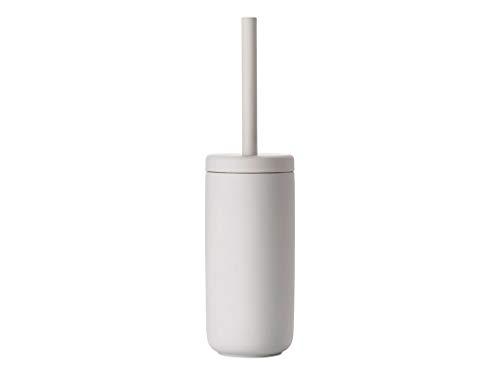 Zone Denmark Ume WC-Bürste/Toilettenbürste/WC-Garnitur, Steinzeug mit Soft Touch-Beschichtung, hellgrau (Soft Grey)