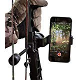 Bow Mount Phone Holder Bracket for Archery Hunting with apple iphone and samsung galaxy, Recurve Compound Archery Aluminum Accessories