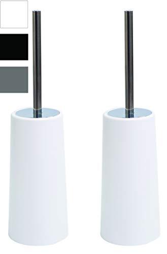 Airee Fairee Toiletborstel En Houder Set Roestrvij Stalen Handvat Vrijstaand Compact Modern Ontwerp Lang Handvat
