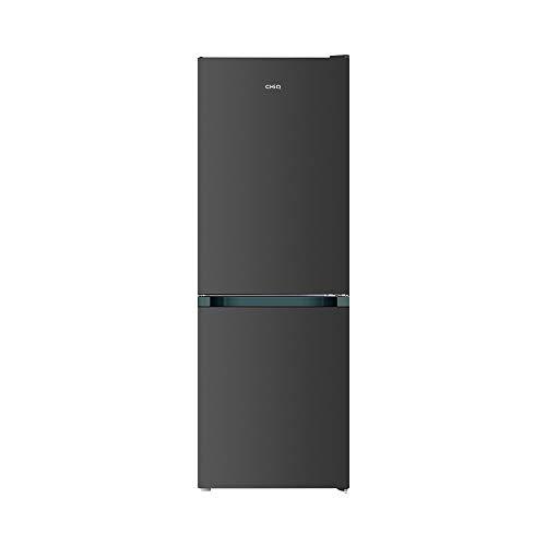 CHiQ réfrigérateur congélateur bas FBM157L1 157L (109+48), low frost, l'acier inoxydable, portes réversibles, A+, 38 db, 12 ans de garantie sur le compresseur
