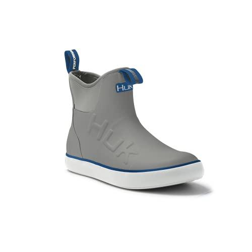HUK Rogue Wave Shoe | High-Performance Fishing & Deck Boot, Grey, 12