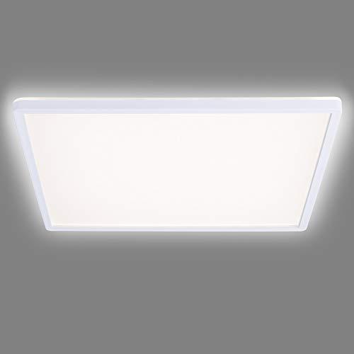 Navaris Lámpara LED de Techo - Iluminación Cuadrada de 42 x 42 CM Moderna bajo Consumo 22 W Efecto de luz indirecta - Eficiencia energétia Clase A