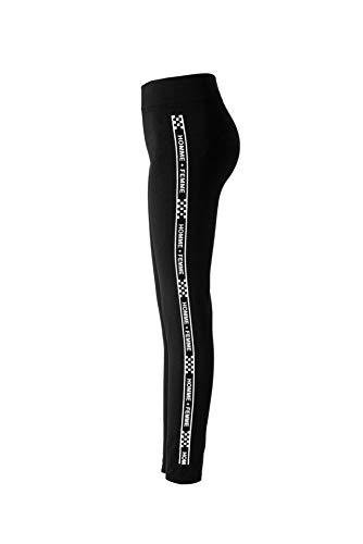 YELLAYBY elástico Deporte polainas for la aptitud de las mujeres elásticos de empuje hacia arriba imprimir cartas Legging altura de la cintura más el tamaño de entrenamiento de gimnasio pantalones del