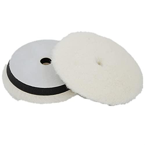 Lixiaonmkop 1 stück 7 \'\' Wollpolierkissen für Poliermaschine Maschine Wachsen Puffing Auto Paint Care Polisher Pads Disco de Pulido Autozubehör