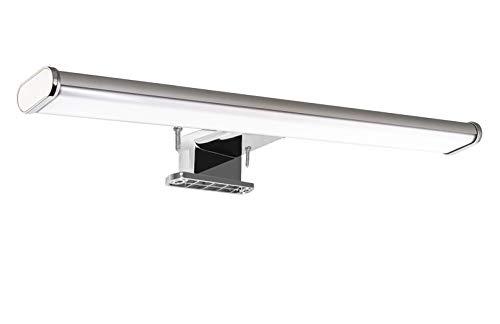 Solupa lampada da specchio LED per bagno PAVO – 30CM, 6W, 480LM, 220V, 4000K, alluminio, IP44 Classe II, non dimmerabile, Installazione a specchio e telaio, luce naturale, 300 mm