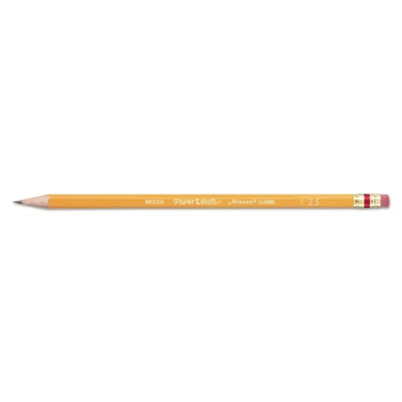 Paper Mate 2098 Mirado Pencil, No 2-1/2 Med.Firm Lead, 12 Pencils, Yellow