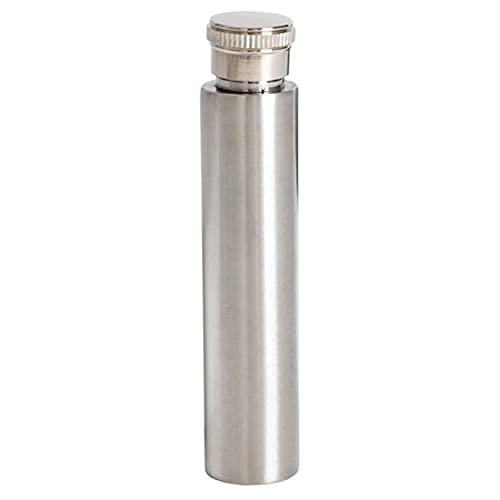 LPOQW Botella de vino de bolsillo portátil de acero inoxidable licor botella de alcohol botella de vino tubo pulido fondo redondo pote de vino