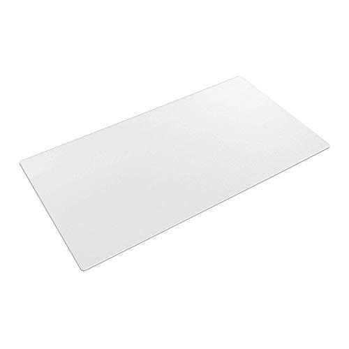 Schreibunterlage, transparent, 80 x 40 cm, groß, rutschfest strukturiert, PVC, Schreibunterlage, wasserdicht, runde Kanten